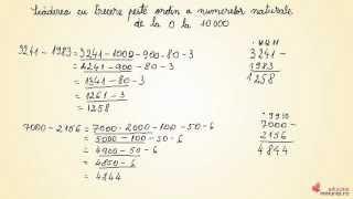 Scaderea cu trecere peste ordin a numerelor naturale de la 0 la 10 000 - Matematica clasa a III-a