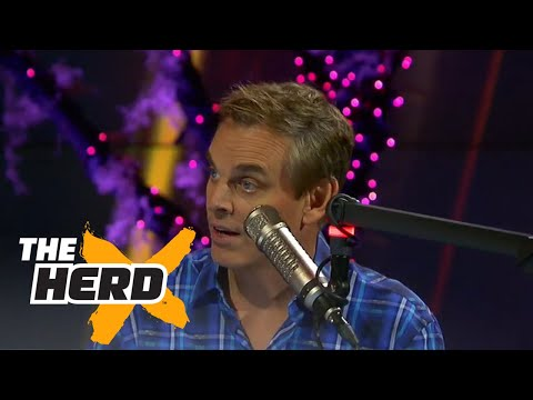 Cowherd I ll take Tom Brady over Aaron Rodgers THE HERD