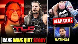 Kane WWE QUIT, Roman Reigns Big Tables Match, Lesnar Vs Kofi Rematch, WWE Backstage & RAW Ratings