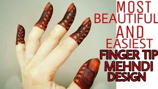 Latest/New beautiful and easiest finger tip design ever/finger mehndi design | By Beautiful You