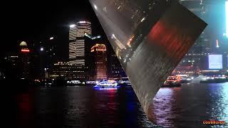 Shanghai - Night cruise on Huangpu River - Trip to China part 45 - Full HD travel video