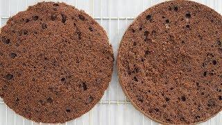 طرز تهیه کیک اسفنجی شکلاتی پایه برای انواع کیک تولد و مجالس | Chocolate Sponge Cake