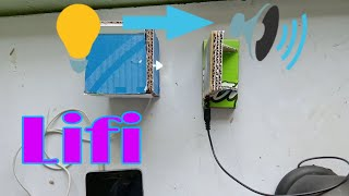 How to make lifi at home | Transmit data with light, School Project