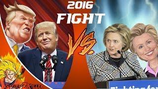 DONALD TRUMP vs HILLARY CLINTON! Cartoon Fight Club Episode 110 REACTION!!!