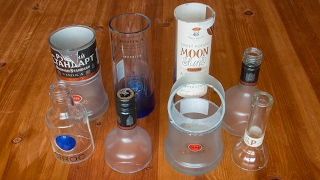 How to cut a glass bottle in half 5 ways