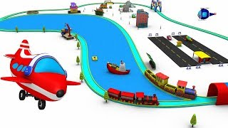 Train Cartoon - Train - toy factory - Train for kids - Kids Railway  - Choo Train Cartoon for kids