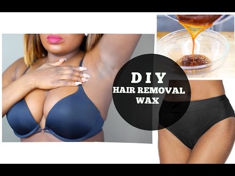 DIY HAIR REMOVAL SUGAR WAX FOR PUBIC AND UNDER ARM  | Live Demo