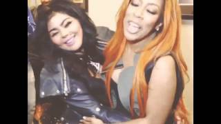 Lil' Kim & K.Michelle meet for the first time (2013)
