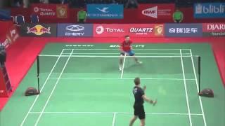 Victor AXELSEN vs Petr KOUKAL 2015 World championships R64