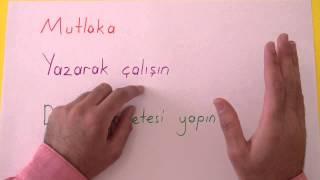 VERİMLİ DERS ÇALIŞMA TEKNİĞİ - Şenol Hoca