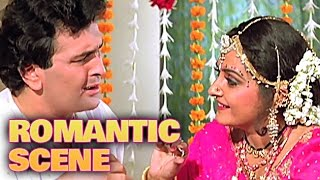 Rishi & Jayapradha First Night Romance | Romantic Scene | Dhartiputra | Mammootty, Rishi Kapoor | HD