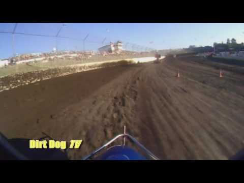Rick Fauver - In car camera hot laps new xXx sprint car