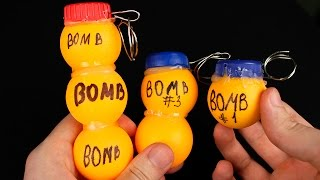 HOW TO MAKE GRENADES. Homemade BOMBS FOR ENTERTAINMENT