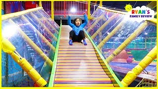indoor playground fun for kids with giant slides!