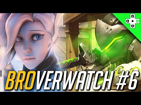 Genji Gameplay - Mercy Has a Very, Very Bad Day | Overwatch