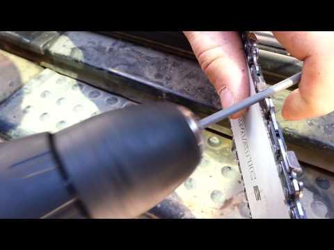 Как заточить правильно заточить цепь бензопилы своими руками