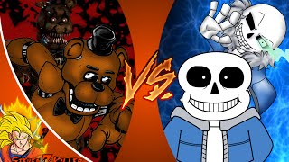 FREDDY FAZBEAR vs SANS! Cartoon Fight Club Episode 63 REACTION!!!