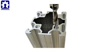 OpenBuilds Tapping V-Slot® using a cool drill tap bit