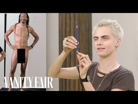 Xxx Mp4 Cara Delevingne Draws Nude Models Vanity Fair 3gp Sex