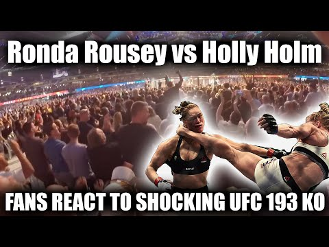 UFC 193 Ronda Rousey vs Holly Holm Fan Reactions