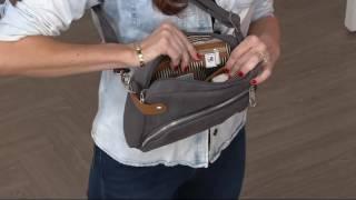 Travelon Anti-Theft Heritage Canvas RFID Crossbody Bag on QVC