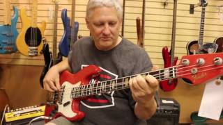 The funkiest bass player, Trevor Lindsey, stopped by Norman's Rare Guitars