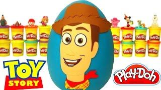 Huevo Sorpresa Gigante de Woody de Toy Story en Español de Plastilina Play Doh