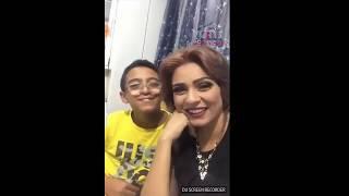 نورهان شعيب مباشر مع ابنها معاذ دمه زى العسل وتتكلم عن اعمالها القادمه