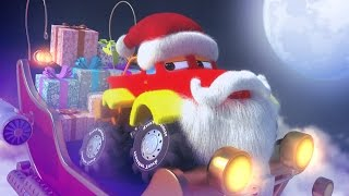 Monster Truck Dan - Christmas night | Jingle Bells | Christmas carols for kids