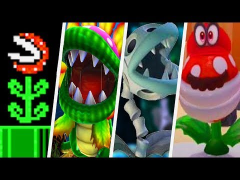 Evolution of Piranha Plant in Super Mario Games 1985 2017