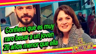 Érika Buenfil confiesa se pone nerviosa al besar a Adrian Di Monte en la telenovela.