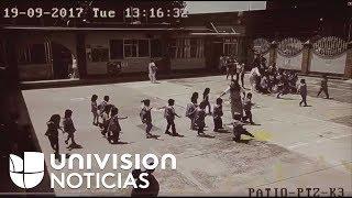 Nuevas imágenes muestran a niños siendo evacuados de una escuela durante el sismo en México