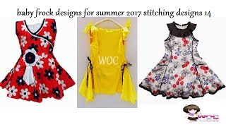 baby frock designs for summer 2017, stitching designs 14