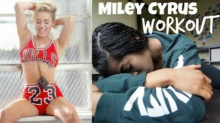 I TRIED MILEY CYRUS WORKOUT
