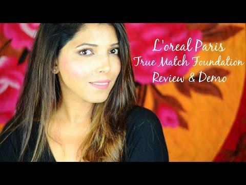 L'oreal Paris True Match Foundation  - Review & Demo   Hina Attar