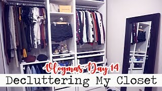 CLOSET DECLUTTER & ORGANIZATION! || Vlogmas Day 14