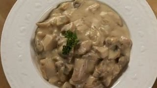 Chicken & Mushroom in White Sauce
