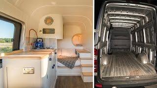 Family Transform Old Van Into Dream Camper Van