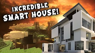 REDSTONE SMART HOUSE - Modern Mansion (w/ Secret Rooms and Passage Ways)