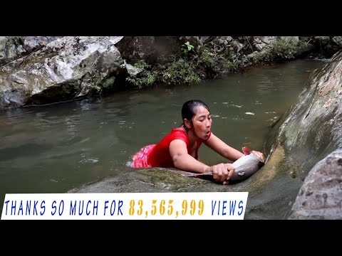 Xxx Mp4 Survival Skills Catch Big Fish 5 Kg By Hand In Waterfall Cooking Big Fish Eating Delicious 20 3gp Sex