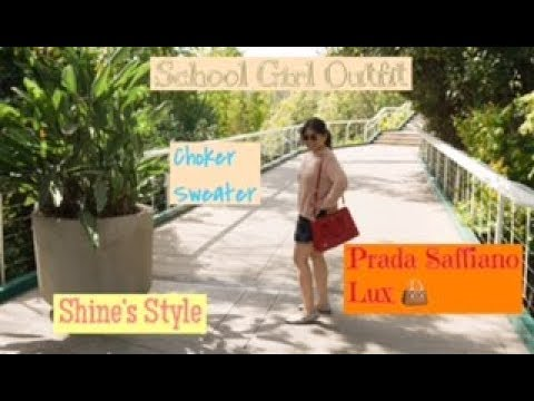 Xxx Mp4 SCHOOLGIRL OUTFIT Boohoo Choker Sweater Prada Saffiano Tote SHINE S STYLE 3gp Sex