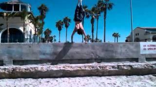 High wall handstand