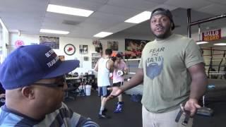 boxing gym reaction to amir khan vs canelo alvarez - EsNews Boxing