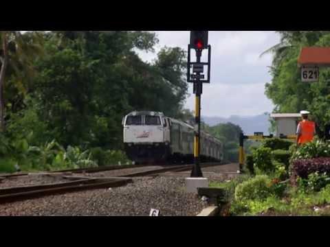 KA. 10 Argo Dwipangga ngebut Di PJL.621 dan Stasiun Montelan