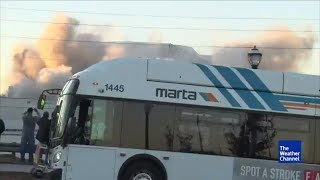 Bus Ruins The Weather Channel's Shot of Dome Implosion