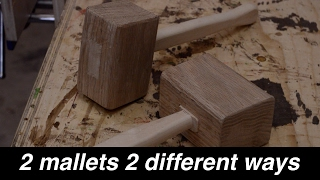 Making Two Mallets, Two Different Ways