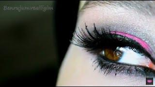 Pembe - Siyah Smokey Göz Makyajı 💗 #İnstagram