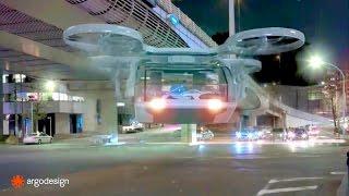 Argo Design - Autonomous Medical Ambulance Drone Simulation [720p]
