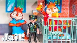 ALVIN AND THE CHIPMUNKS Nickelodeon Alvin Goes To Jail Candy Prank Toys Video Parody
