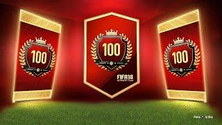 THE ULTIMATE TOTW PACK! =TOP 100 REWARDS! - FIFA 18 Ultimate Team